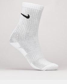Nike Performance Basic Crew Socks White