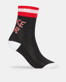 Nike Air Crew 2PK Socks Black