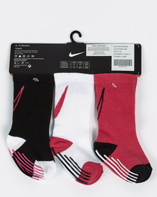 Nike Rush Track Gripper Socks Pink Multi