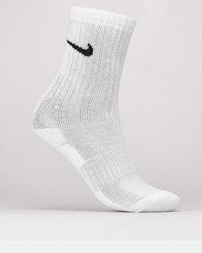 Nike Dri-Fit Performance Basic Ankle Socks White