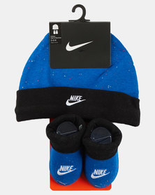 Nike Futura Beanie And Bootie Set Photo Blue