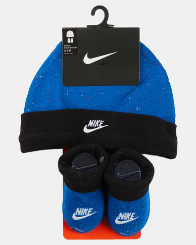 Nike Futura Beanie And Bootie Set Photo Blue
