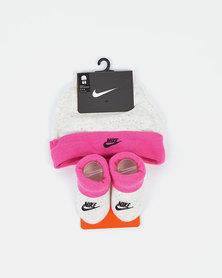 Nike Futura Beanie And Bootie Set Laser Fuchsia