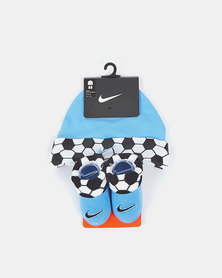 Nike Futura Beanie And Bootie Set University Blue