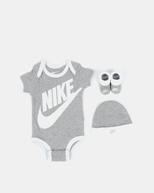 Nike Dk Heather Futura Logo Box Set Grey