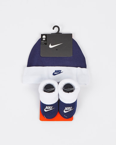 Nike Nhn Nike Futura Hat And Bootie Blue Void