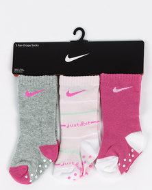 Nike Foam JDI Stripe High Crew Socks Pink