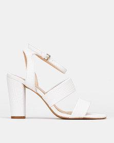 Bata Red Label Strap Heels White