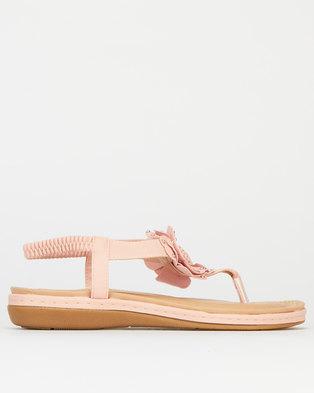 Queenspark Comfort Big Flower Sandals Pink