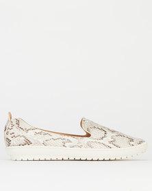Queenspark Python Printed Sneakers Nude