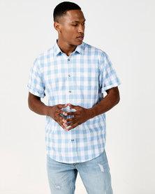JCrew Check Shirt Green & Blue