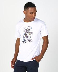 Utopia T-shirt with Geo Print White