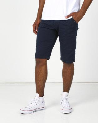 Utopia Twill Shorts Navy