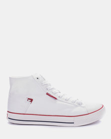 Carrera High-top Canvas Sneakers White