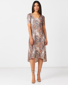 Nucleus Curve Dress in Animal print