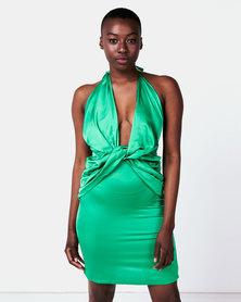 I Am Woman Babes Dress Green