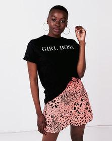 SassyChic Girl Boss Tee Black