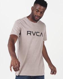 RVCA Big RVCA Pigment Short Sleeve Tee Grey