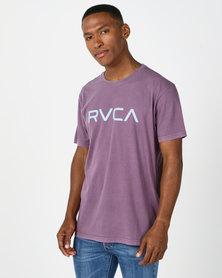 RVCA Big Rvca Pigment Ss Tee Purple
