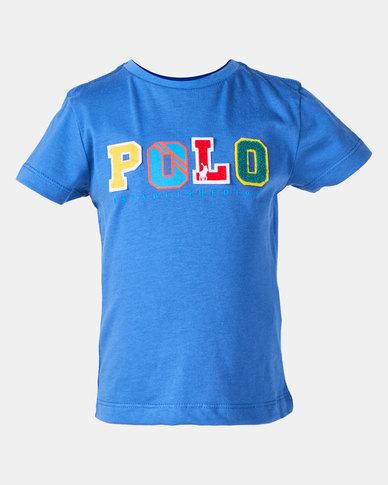 Polo Boys Rick Short Sleeve Tee  Blue