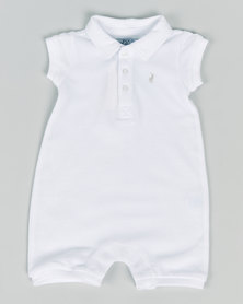 Polo Infants Alex Short Sleeve Babygrow White