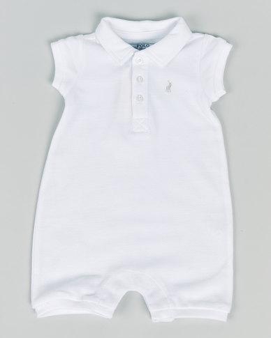 Polo Infants Alex Short Sleeve Babygrow White