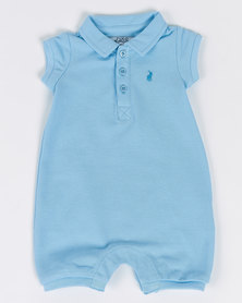 Polo Infants Alex Short Sleeve Babygrow Blue