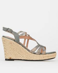 Butterfly Feet Darianne Wedges Grey