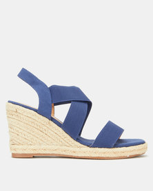 Butterfly Feet Saffron Wedges Navy