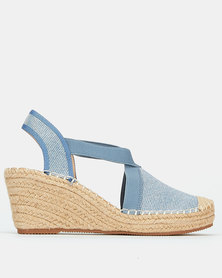 Butterfly Feet Noa Wedges Light Blue