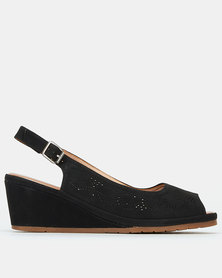 Butterfly Feet Codie Wedges Black