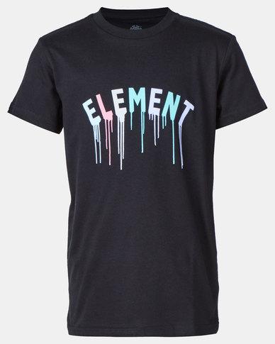 Element Flint Stencil Short Sleeve Tee Black