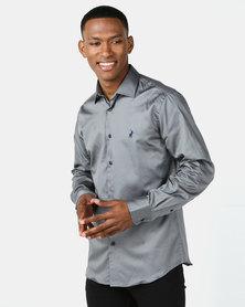 Polo Mens Custom Fit Greig Shirt Grey