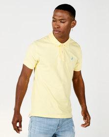 Polo Mens Carter Custom Fit  Short Sleeve Pique Golfer Butter