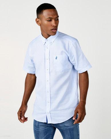Polo Mens Preston Weekender Short Sleeve Shirt Light Blue