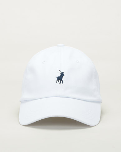Polo Mens Parker Classic Peak Cap White