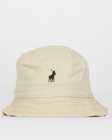 Polo Sydney Twill Bucket Hat Stone