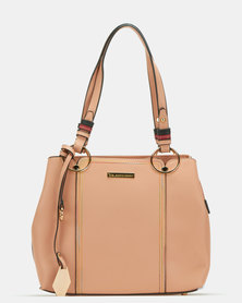 Blackcherry Bag Panel Shoulder Bag Dusky Pink