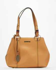 Blackcherry Bag Panel Shoulder Bag Tan