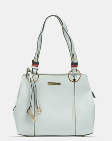 Blackcherry Bag Panel Shoulder Bag Light Grey