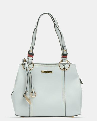 Blackcherry Bag Panel Shoulder Bag Light Grey