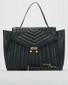 Blackcherry Bag Quilt Shoulder Bag  Black