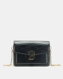 Blackcherry Bag Accordion Crossbody Bag Black