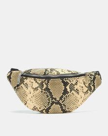 Blackcherry Bag Python Waist Bag Tan-Brown