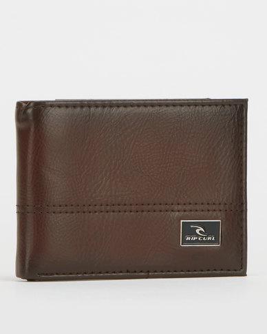 Rip Curl Corpawatu Icon PU Slim Wallet Brown