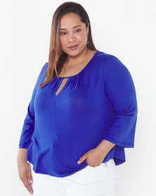 Slick Plus Aegean Kim Top  Blue