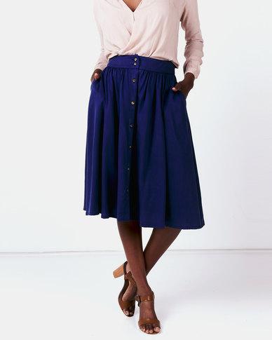 non-european® Buttoned Waistline Skirt Delft