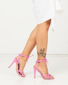 Madison Cassie Tie Detail Heeled Sandals Pink