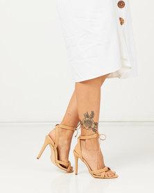 Madison Cassie Tie Detail Heeled Sandals Nude