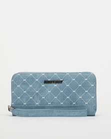Sissy Boy Zip Around Purse Blue